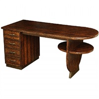 palmwood double-sided desk by eugene printz