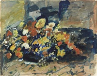 still life of flowers by lovis corinth