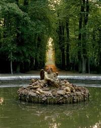 bassins des saisons, l'hiver ou saturne by girardon, versailles (rp.vers.384) by robert polidori