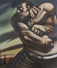 untitled (fighter) by peter howson
