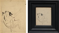 study for seated woman by willem de kooning