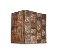 custom pierced-front wall-hanging cabinet by paul evans