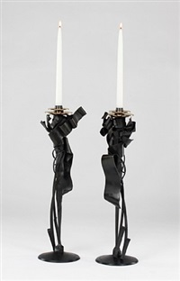 calyx candleholders by albert paley