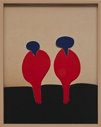 brown, red, blue by elad lassry