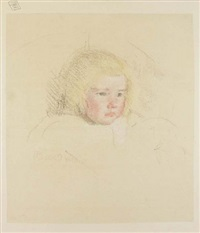 simone in a round-backed upholstered chair by mary cassatt