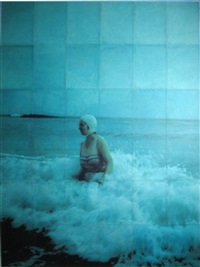 woman in the waves ii by isca greenfield-sanders