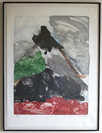 monoprint by peter voulkos