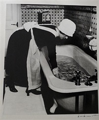 parlourmaid preparing a bath by bill brandt
