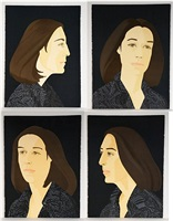 ada four times (suite of four prints, sold as a set) by alex katz