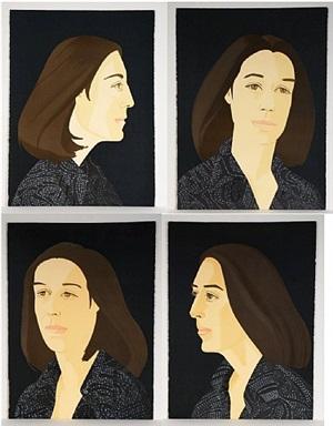 ada four times (suite of four prints, sold as a set) by alex katz