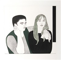 young couple by will barnet