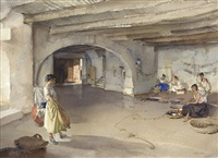 festive preparations, manosque by william russell flint