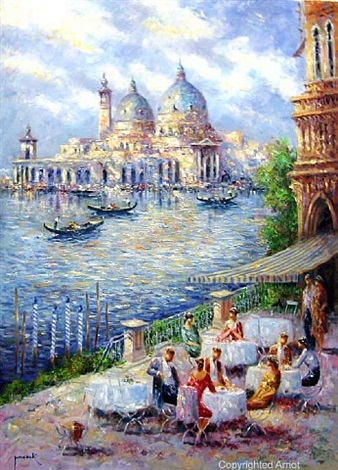 venice at the café by christian jereczek
