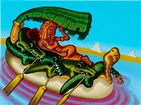 cleopatra, queen of the nile by peter saul