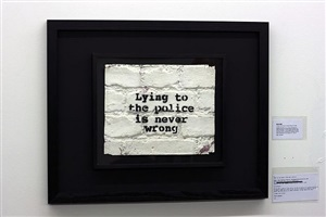 lying to the police is never wrong by banksy