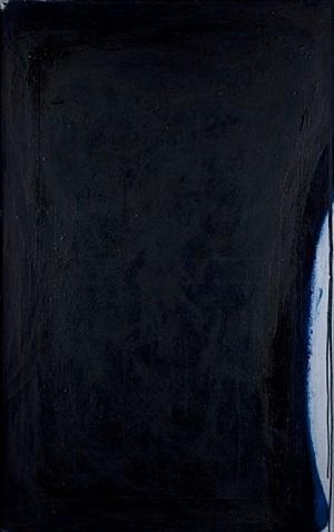 übermalung (blau/schwarz) by arnulf rainer