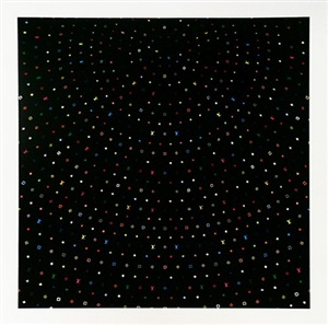 sphere black by takashi murakami