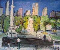 columbus circle, new york by carlos nadal
