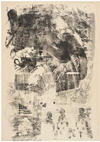 brake, from stoned moon series by robert rauschenberg