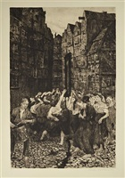 die carmagnole (dance around the guillotine) by käthe kollwitz