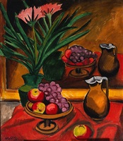 still life with mirror by max pechstein