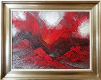 paisaje volcanico by david alfaro siqueiros