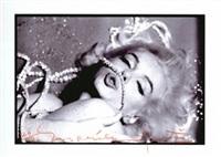 marilyn monroe rhinestone kiss by bert stern