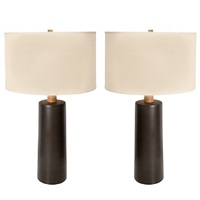 rare pair of monumental martz lamps by gordon martz