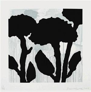 flower study i by donald baechler