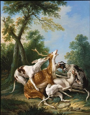 stag hunt by jean-baptiste oudry