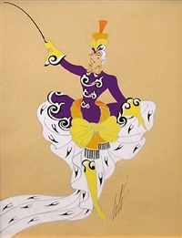 untitled (ringmaster) by erté