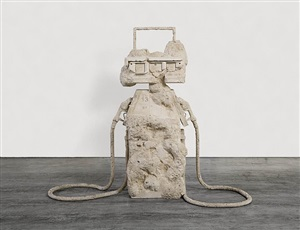 petrified petrol pump by allora & calzadilla