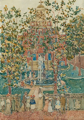 the bartol church (the fountain) by maurice brazil prendergast