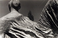 detail of draped reclining figure, 1953 by henry moore