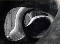 detail of reclining figure (internal & external forms), 1953 by henry moore