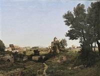 rome, vue du mont palatin by henri joseph harpignies