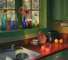 kitchen, winter sunrise by scott prior