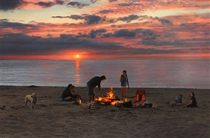 fire on the beach by scott prior
