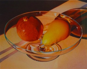 pear and pomegranate by mary pratt
