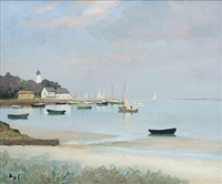maree basse à port navalo by marcel dyf