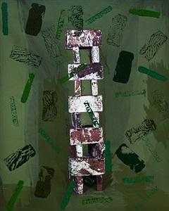 untitled (building blocks, green) by sam falls