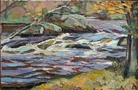 six mile falls, kenduskeag stream by michael vermette