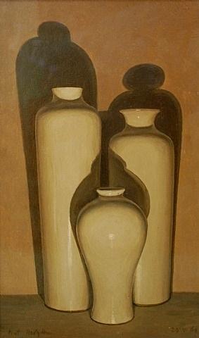 three vases by eliot hodgkin