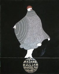 madame william randolph hearst: design for an evening cape by erté