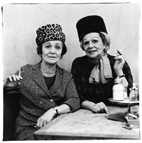 two ladies at the automat, n.y.c. by diane arbus
