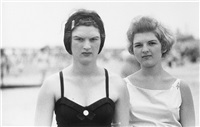 two girls on the beach, coney island, n.y. 1958 by diane arbus
