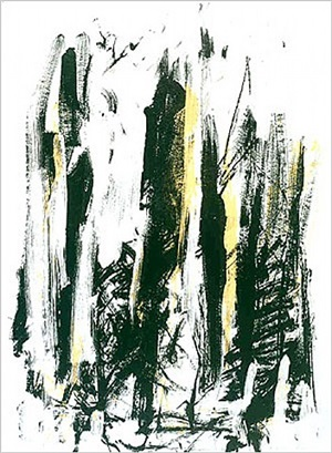 arbres - black and yellow by joan mitchell