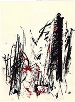 arbres - black and red by joan mitchell