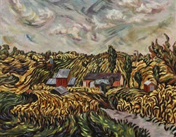 soybeans and cornfields by helen berggruen