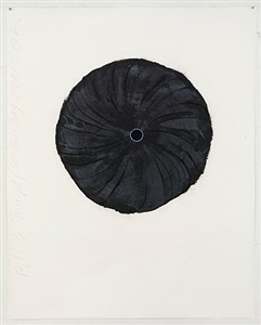 black trumpet (light blue) aug 7 2012 by donald sultan